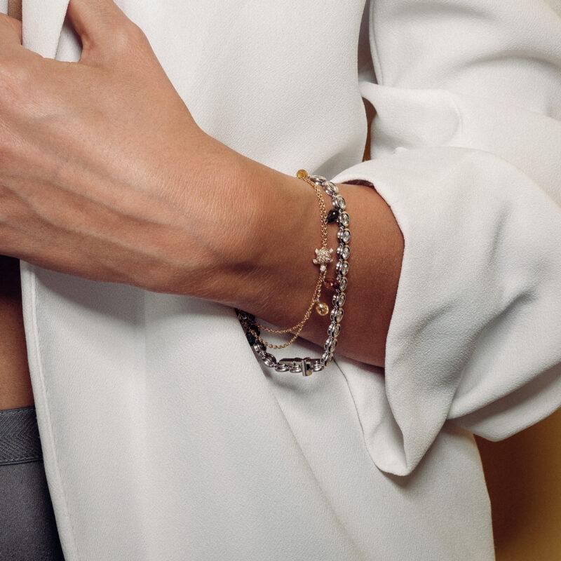 Tennisarmband mit Diamanten