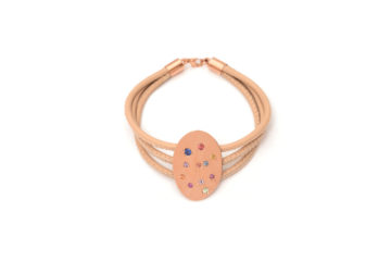 Armband aus Rotgold mit bunten Saphiren
