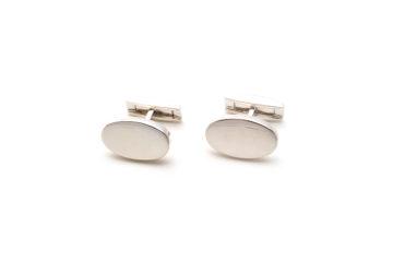 Ovale Manschettenknöpfe aus Silber