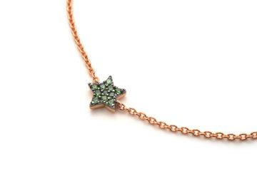 Armband aus Rotgold mit Stern