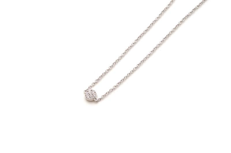 Armband aus Weißgold mit Diamant