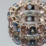 Ring aus Weißgold mit Morganit und Aquamarin