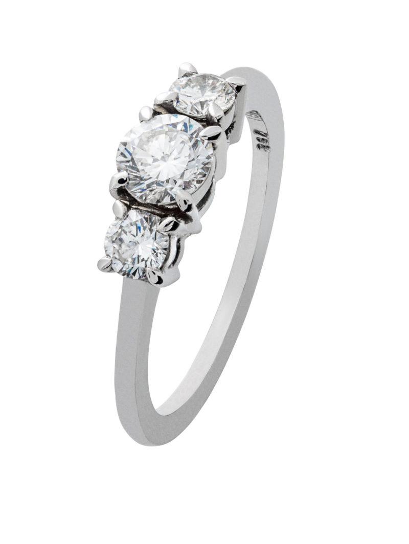 Alliance Ring aus Weißgold mit Diamanten