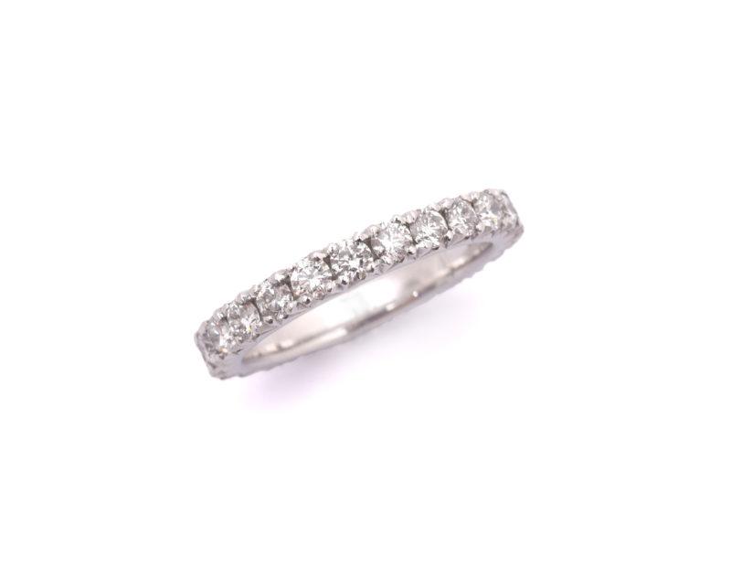 Diamantring aus Weißgold