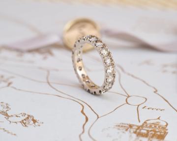 Memoire Ring aus Weißgold